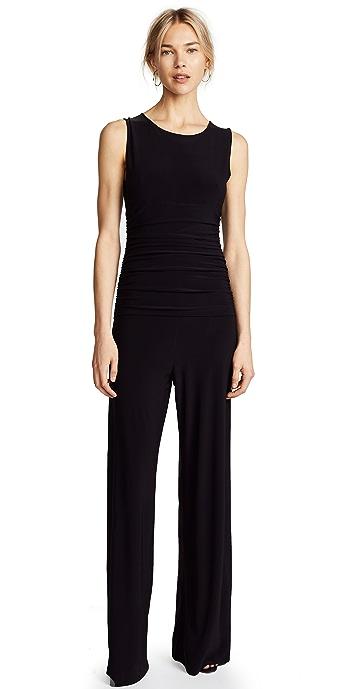 Norma Kamali Kamali Kulture Shirred Waist Jumpsuit - Black