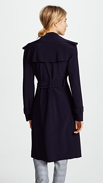 Norma Kamali Kamali Kulture Double Breasted Trench Coat