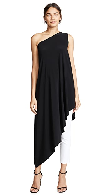 Norma Kamali Kamali Kulture One Shoulder Diagonal Tunic