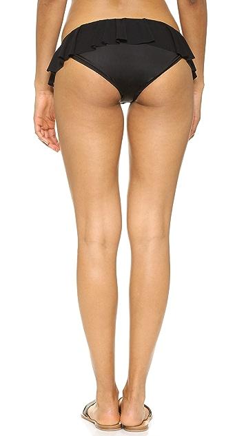 Norma Kamali Ruffled Bikini Bottoms
