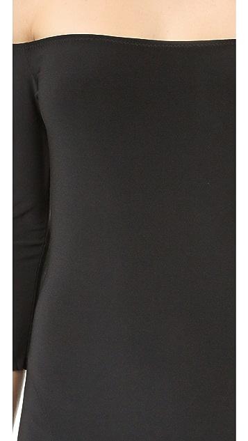 Norma Kamali Kamali Kulture Off Shoulder Fishtail Gown