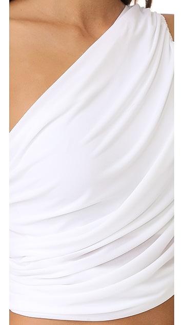 Norma Kamali Diana Halter Bra Bikini Top