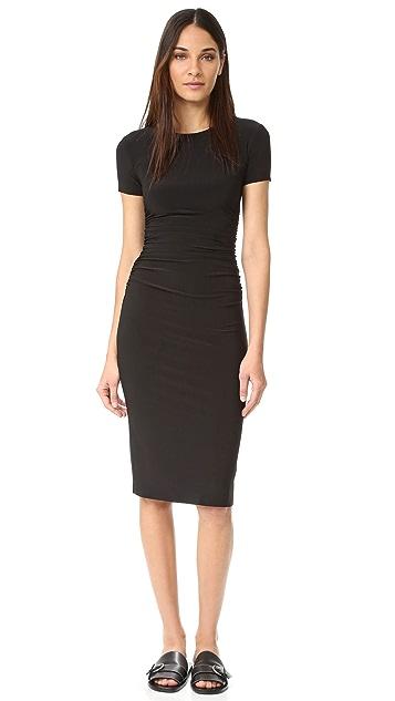 Norma Kamali Kamali Kulture Shirred Dress - Black