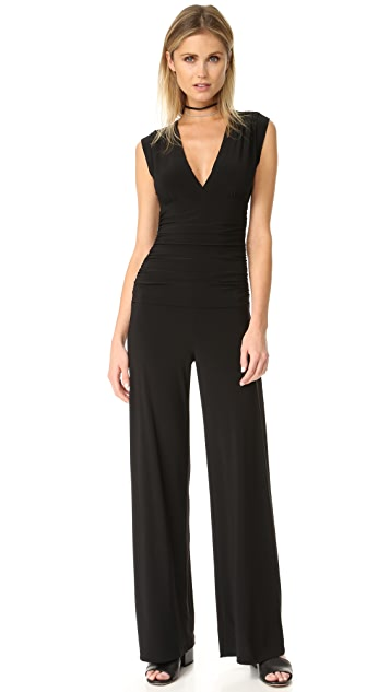 Norma Kamali v-neck jumpsuit Sale Free Shipping Cheap Sale Pictures Clearance Visit Discount Get Authentic Q33GpusM