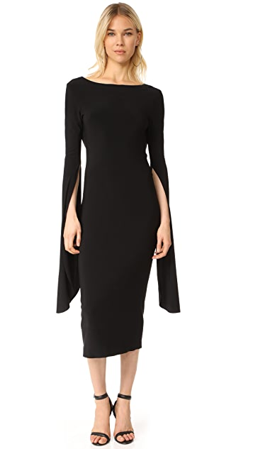 Norma Kamali Draped Low Back Dress