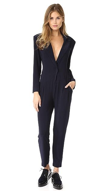 Norma Kamali Single Breasted Jumpsuit