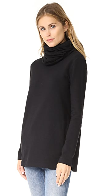 Norma Kamali Oversized Turtleneck Top
