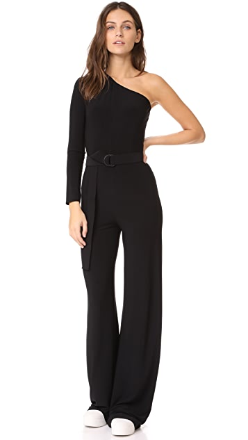 Norma Kamali One Shoulder Jumpsuit