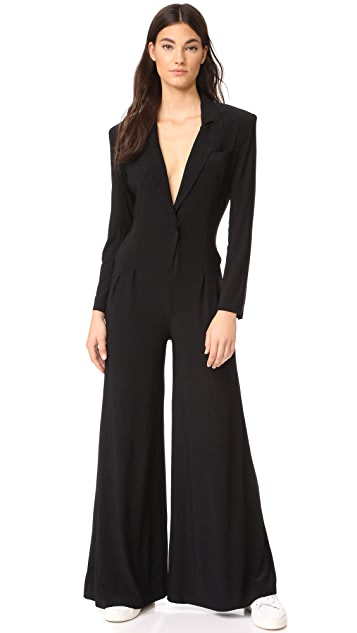 Norma Kamali Single Breasted Elephant Jumpsuit