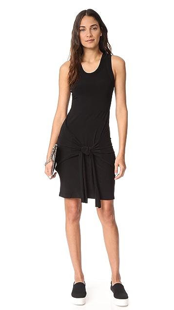 Norma Kamali Racer Side Tie Mini Dress