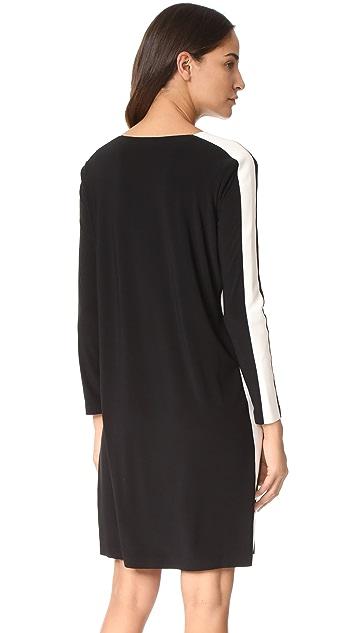 Norma Kamali Side Stripe Crew Dress