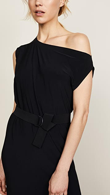 Norma Kamali Drop Shoulder Gown