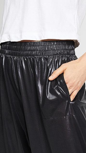 Norma Kamali Cropped Boyfriend Sweatpants