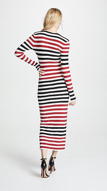 Norma Kamali Spliced Dress