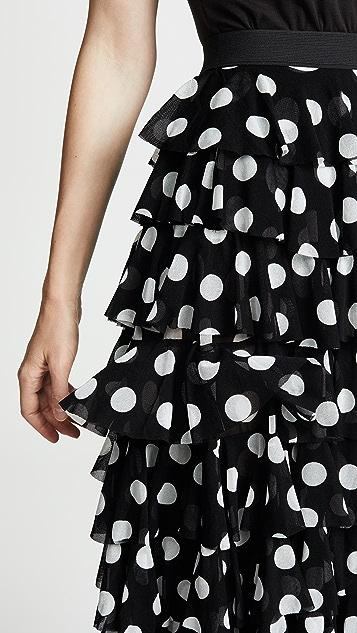 Norma Kamali Ruffle Skirt