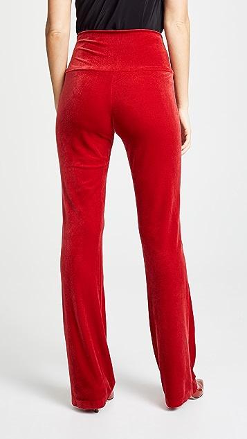 Norma Kamali Velour Boot Cut Pants