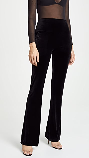 Norma Kamali Velvet Boot Pants