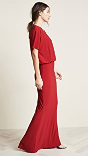 Norma Kamali Boxy Top Fishtail Gown