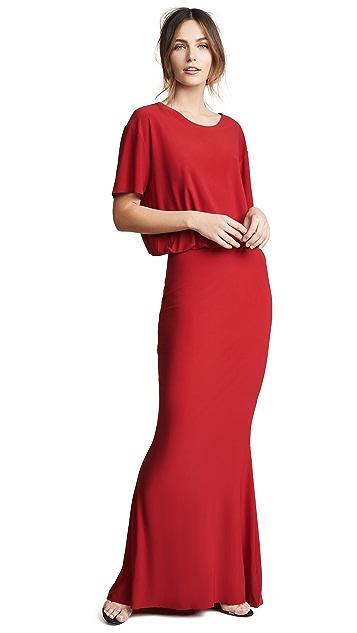 Norma Kamali Boxy Top Fishtail Gown