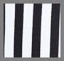 1/4 Ivory/Black Stripe