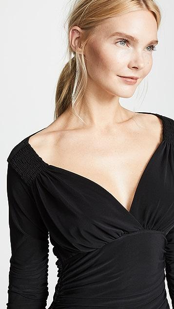 Norma Kamali Long Sleeve Tara Dress