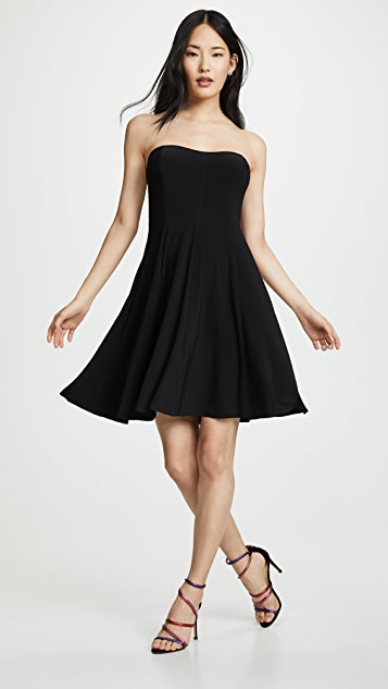 Norma Kamali Strapless Flared Mini Dress