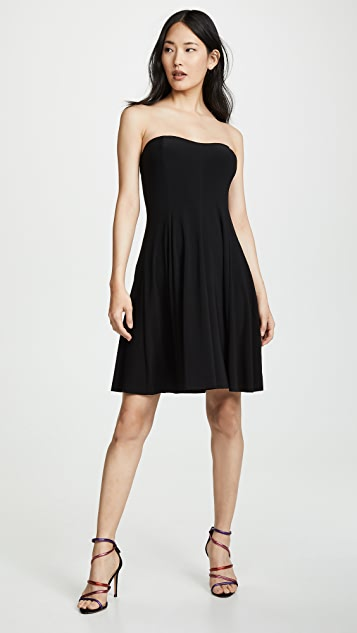 Norma Kamali Strapless Flared Mini Dress