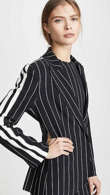 Norma Kamali Однобортный пиджак с полосками по бокам