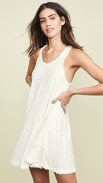 Norma Kamali Расклешенное платье с блестками по всей поверхности