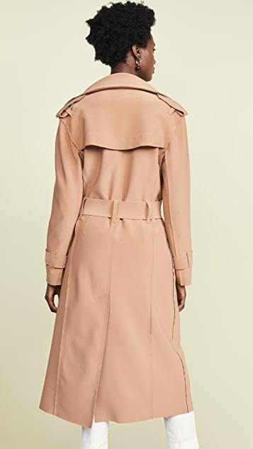 Norma Kamali Double Breasted Trench Coat