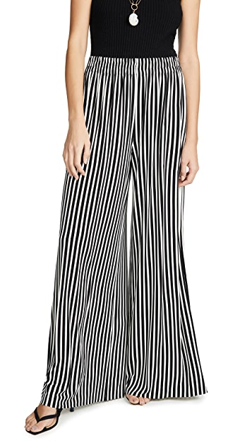 Norma Kamali Side Stripe Boyfriend Trousers