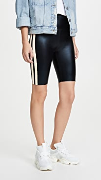 Side Stripe Bermuda Bike Shorts