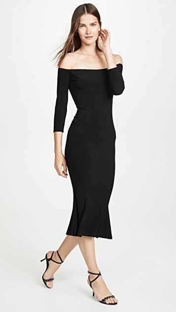 Norma Kamali Off The Shoulder Fishtail Dress