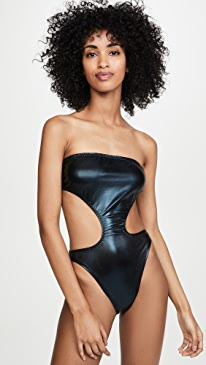 Side Cut Out Bishop One Piece