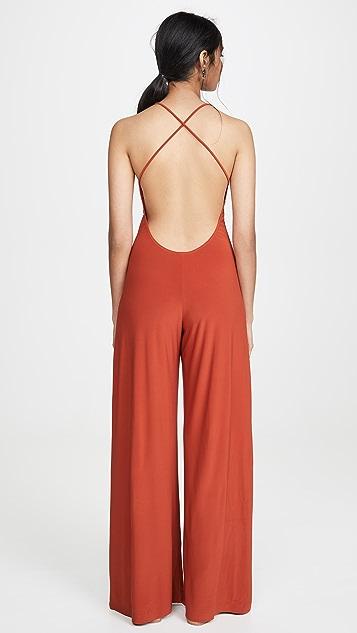 Norma Kamali Low Back Slip Jumpsuit