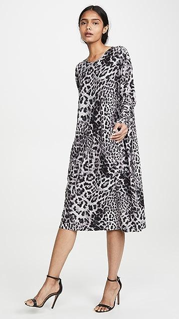 Norma Kamali Boyfriend Long Sleeve Dress