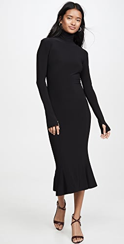 Norma Kamali - Turtleneck Fishtail Dress