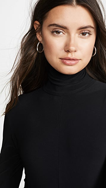 Norma Kamali Long Sleeve Turtleneck Jumpsuit