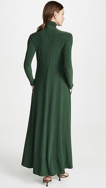 Norma Kamali Turtleneck Swing Dress
