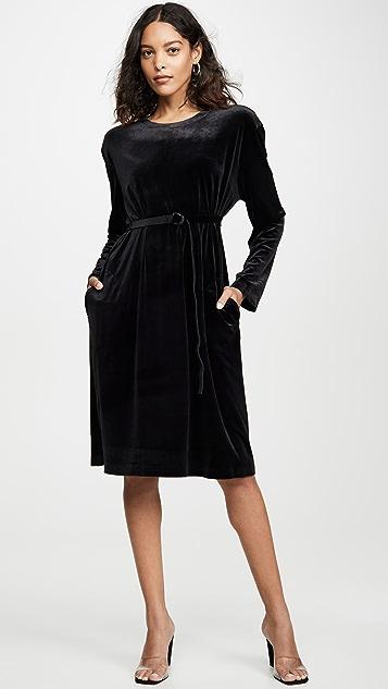 Norma Kamali 男友风长袖连衣裙