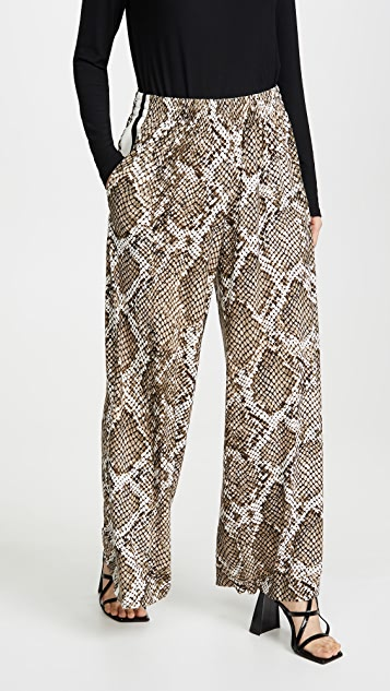 Norma Kamali Side Stripe Boyfriend Elephant Sweatpants