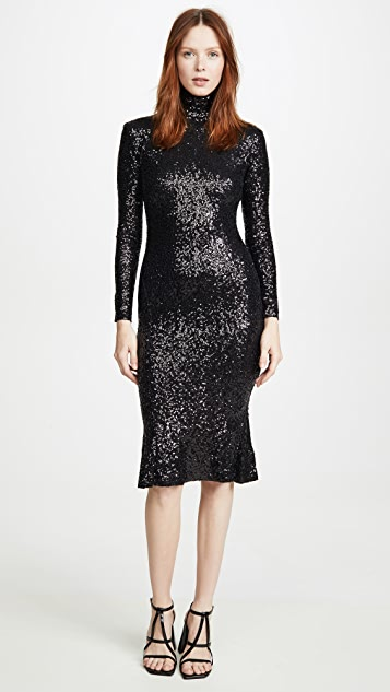 Norma Kamali Sequin Fishtail Dress