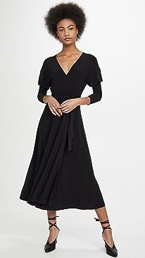 Dolman Wrap Flared Dress