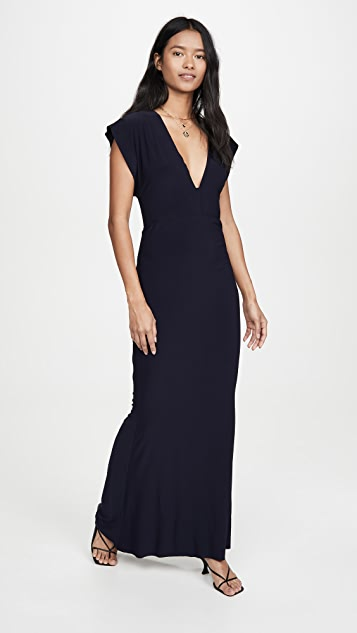 Norma Kamali V Neck Rectangle Gown