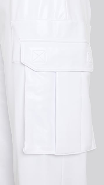 Norma Kamali Foil Cargo Jog Pants
