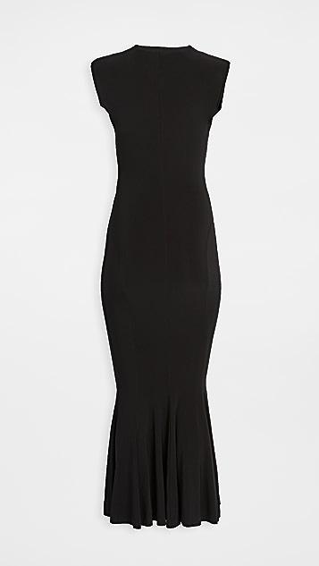 Norma Kamali Sleeveless Fishtail Dress
