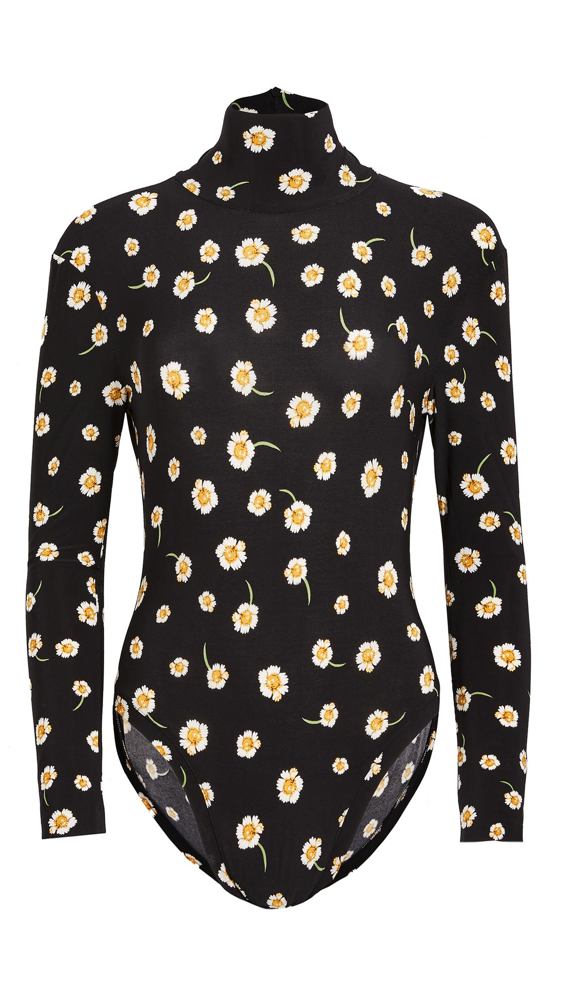 Norma Kamali Long Sleeve Turtleneck Bodysuit