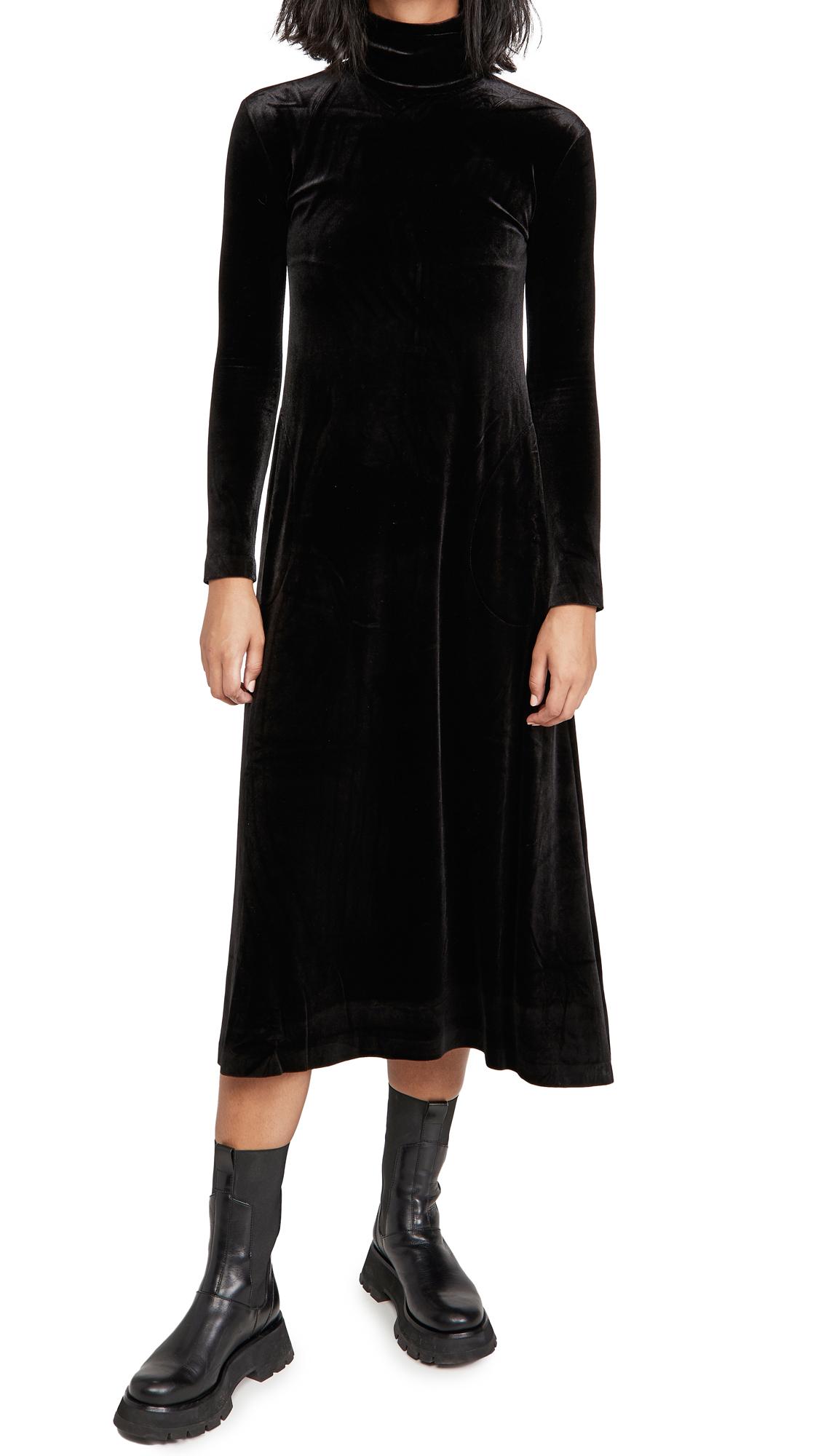 Norma Kamali Long Sleeve Turtleneck Swing Dress