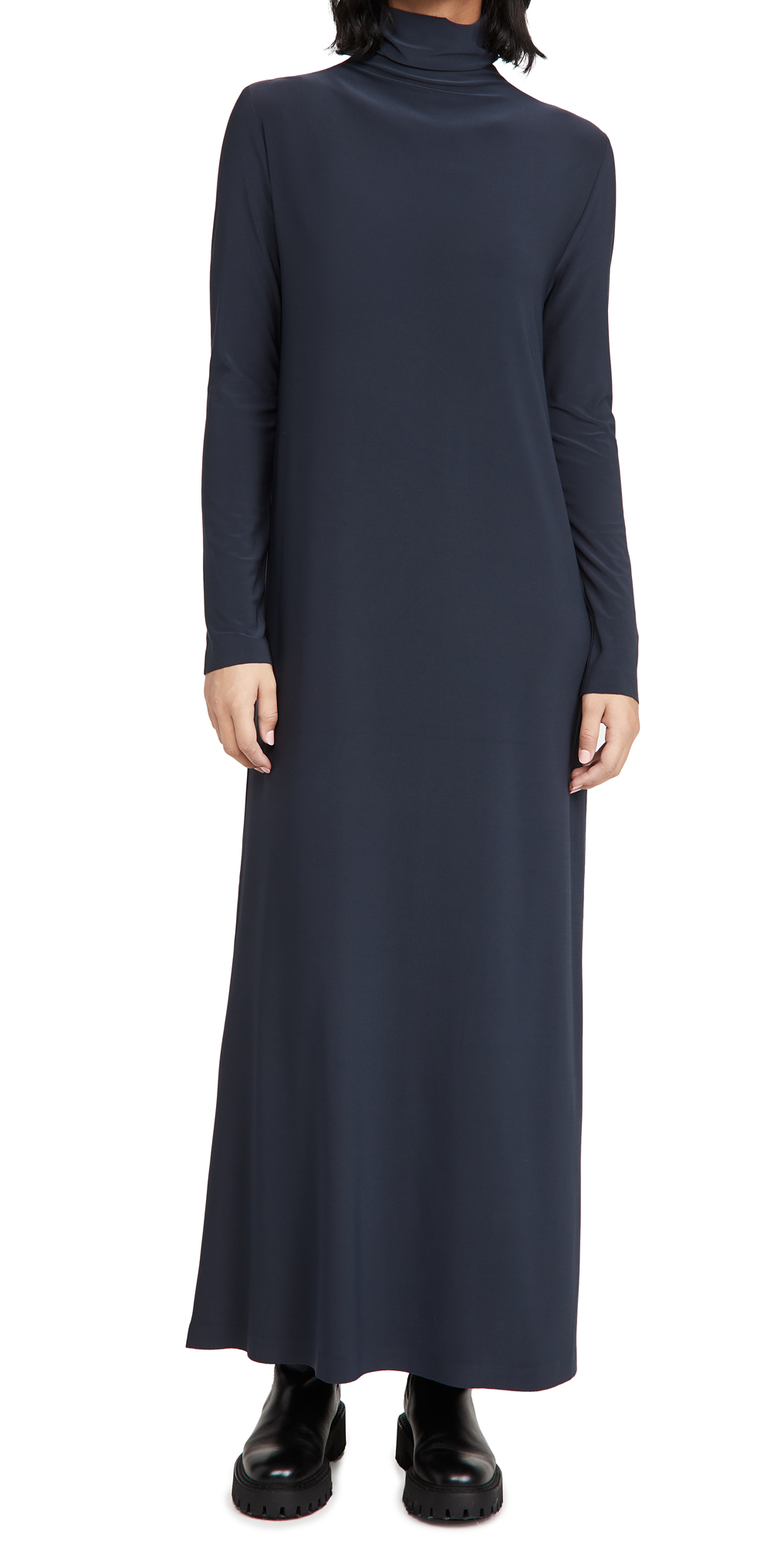Norma Kamali Long Sleeve Turtleneck Gown