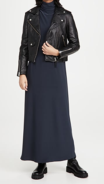 Norma Kamali Long Sleeve Turtleneck Gown